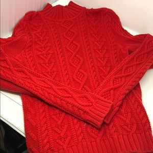 Chaps thick chunky sweater cable knit